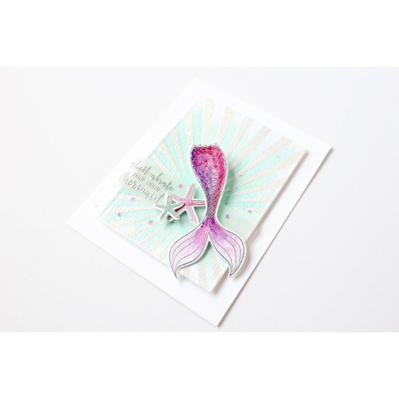 Inner Mermaid By Julie Ebersole, Essentials By Ellen Clear Stamps -
