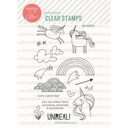 Unicorns 'N Rainbows By Julie Ebersole, Essentials By Ellen Clear Stamps -