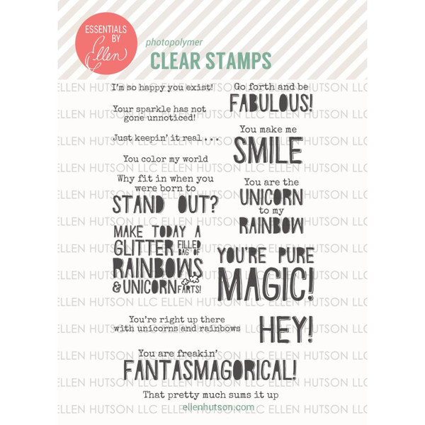 Essentials By Ellen Clear Stamps, Pure Magic By Julie Ebersole -