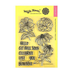 Waffle Flower Clear Stamps, Bouquet Builder 2 - 653341232137