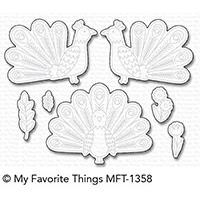 My Favorite Things Die-Namics, Playful Peacock - 849923026557