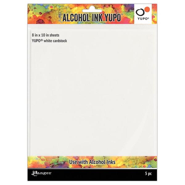 White 8 X 10, Ranger Alcohol Ink Yupo Paper - 789541063346