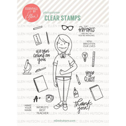 Leading Ladies - Teacher Lady By Brandi Kincaid, Essentials By Ellen Clear Stamps -