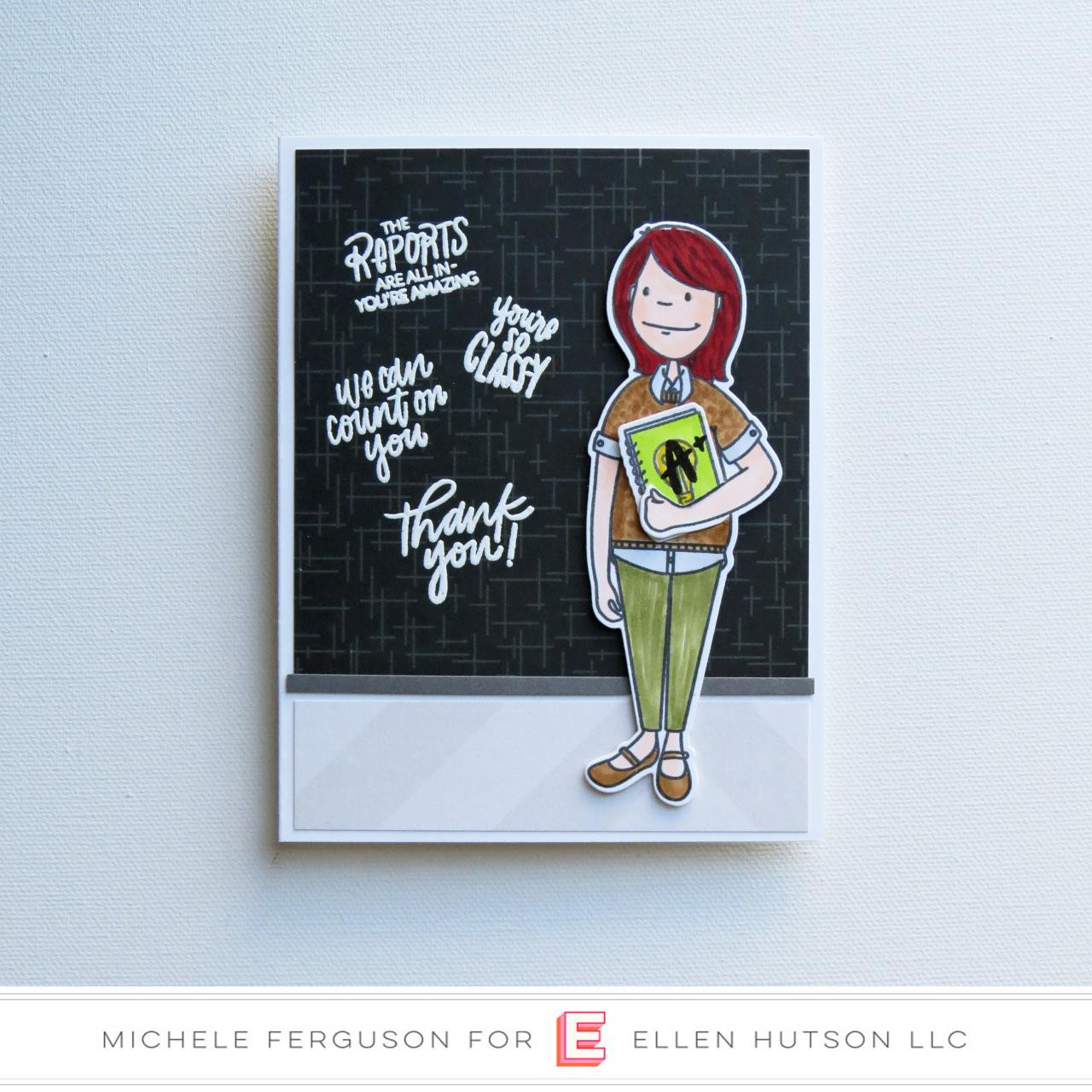 Leading Ladies - Teacher Lady By Brandi Kincaid, Essentials By Ellen Clear Stamps -