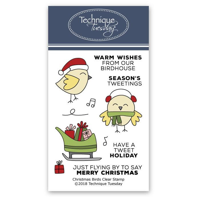Christmas Bird, Technique Tuesday Clear Stamps - 811784027097