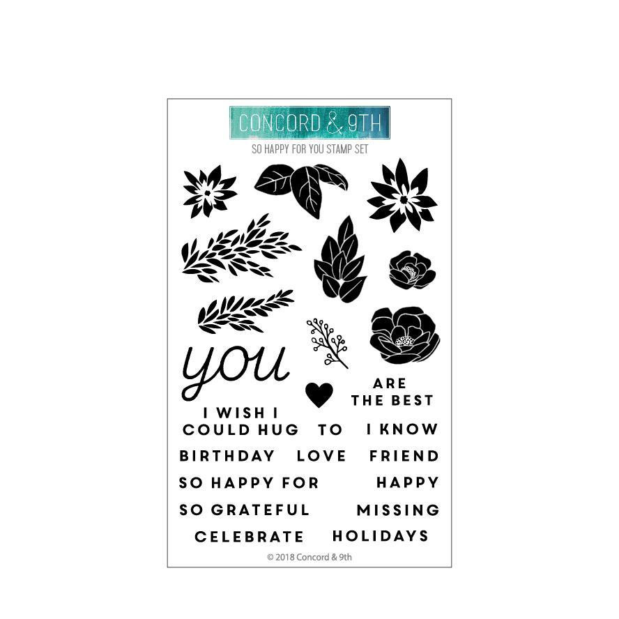 So Happy For You, Concord & 9th Clear Stamps - 902223992660