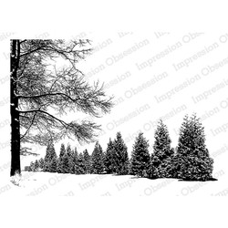 Impression Obsession Cling Stamps, Wintery Day -