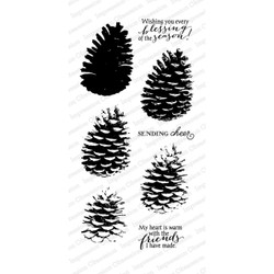 Impression Obsession Clear Stamps, Layered Pinecone -