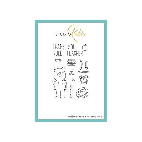 Studio Katia Clear Stamps, Kobe Loves School -