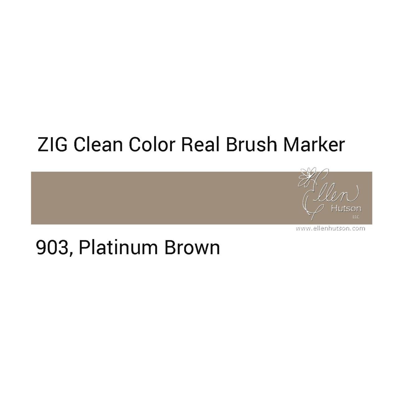 903 - Platinum Brown, ZIG Clean Color Real Brush Marker - 847340037125
