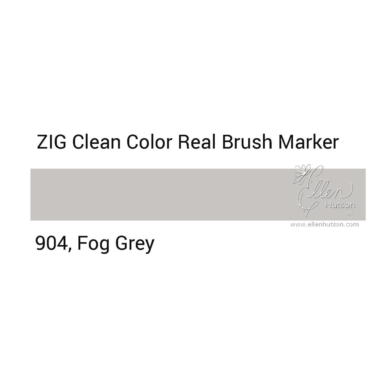904 - Fog Gray, ZIG Clean Color Real Brush Marker - 847340037149