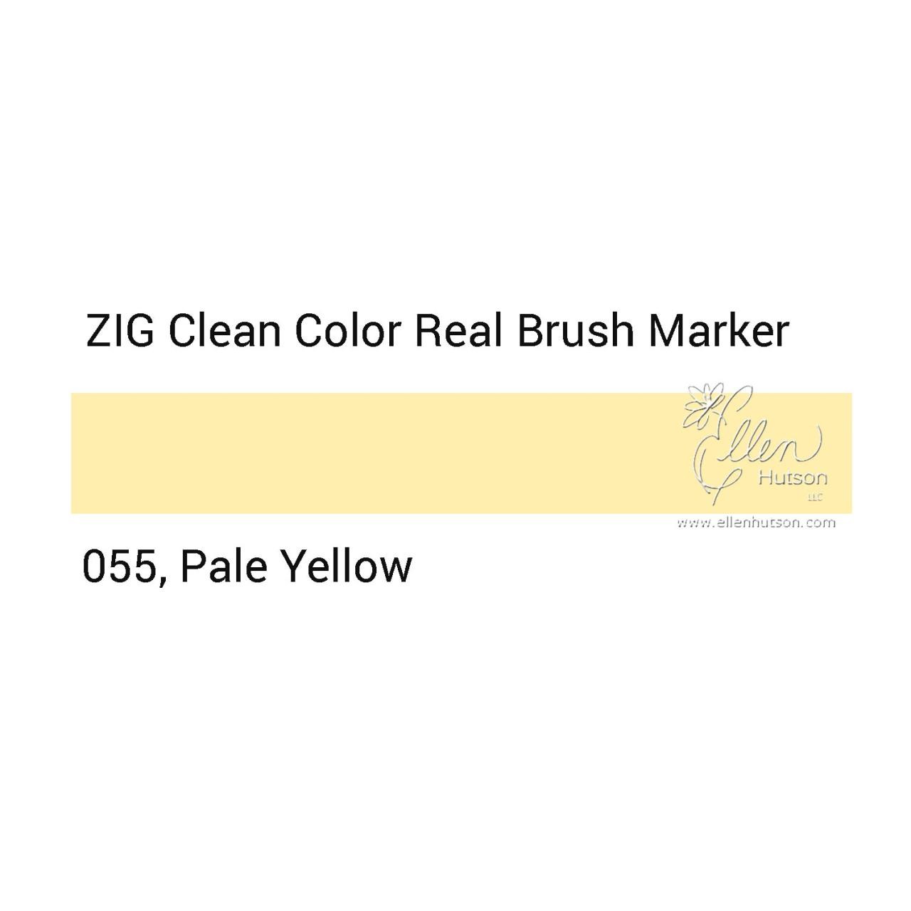 055 - Pale Yellow, ZIG Clean Color Real Brush Marker - 847340037071