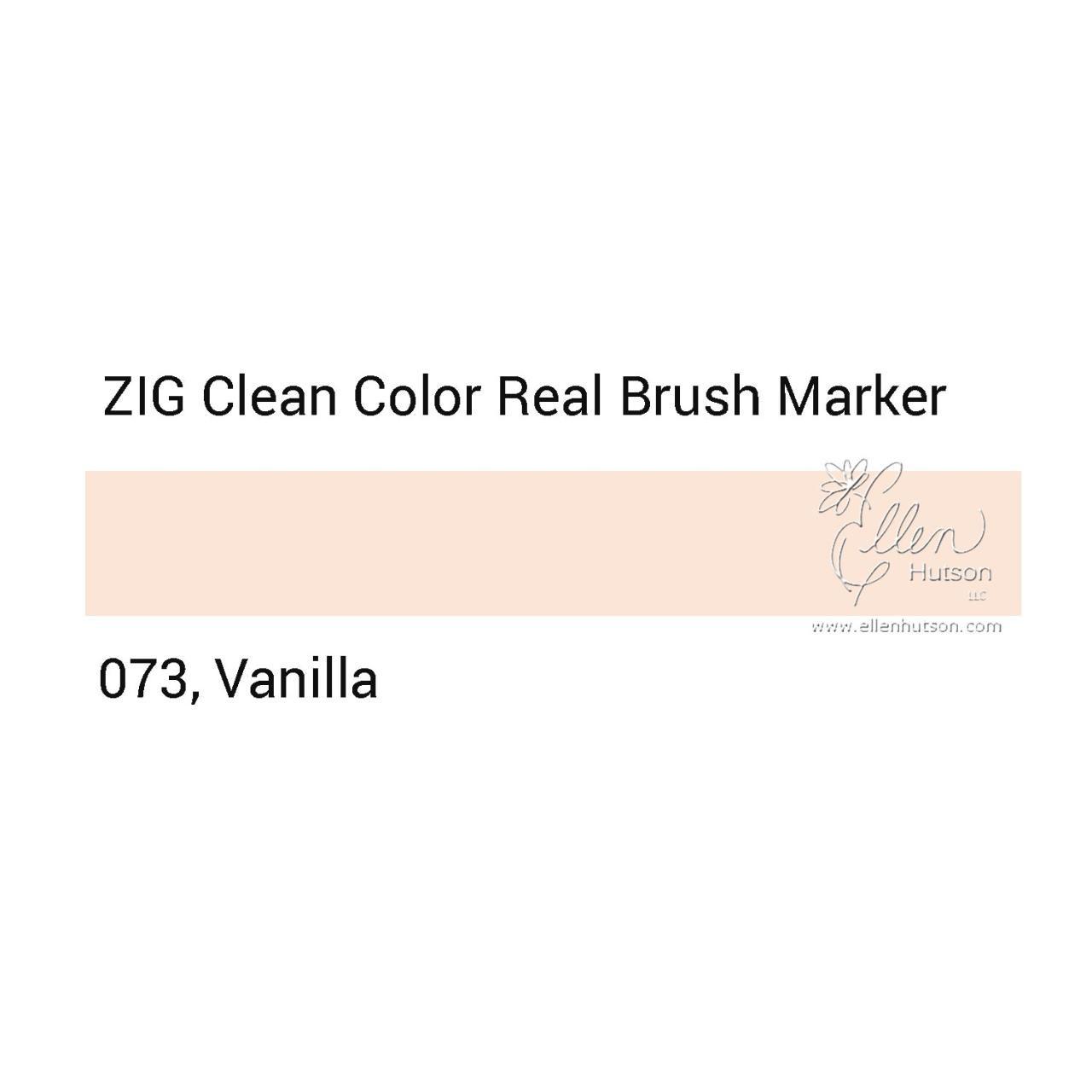 073 - Vanilla, ZIG Clean Color Real Brush Marker - 847340037088