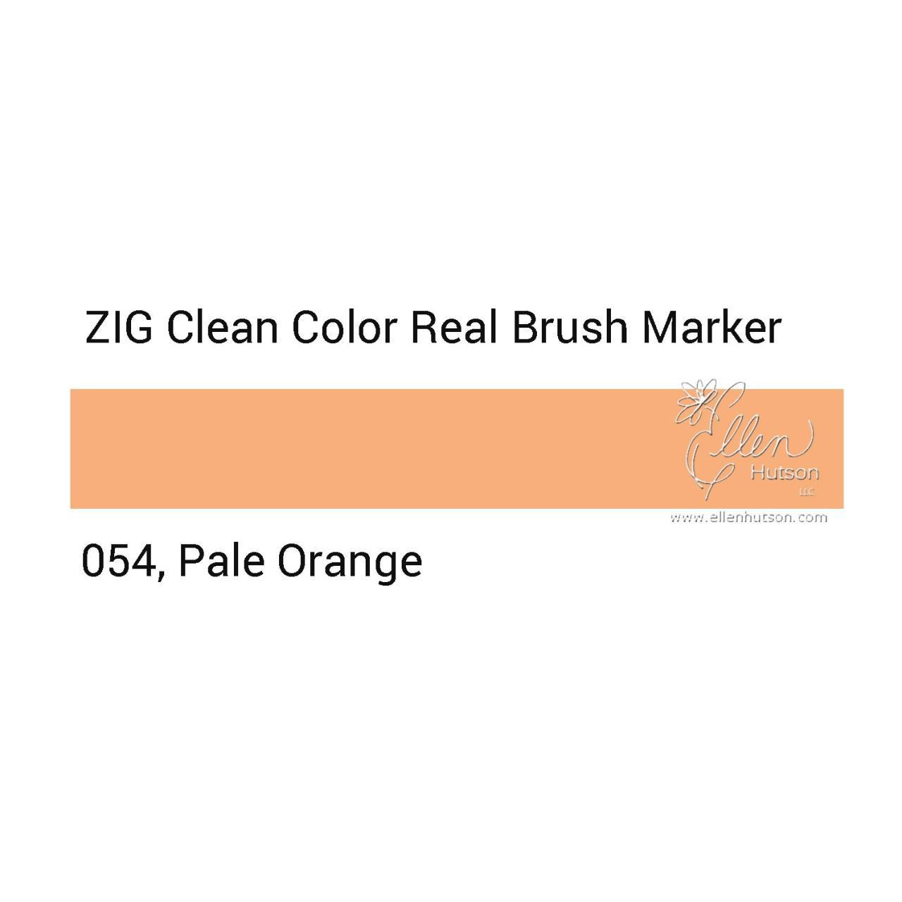 054 - Pale Orange, ZIG Clean Color Real Brush Marker - 847340037064