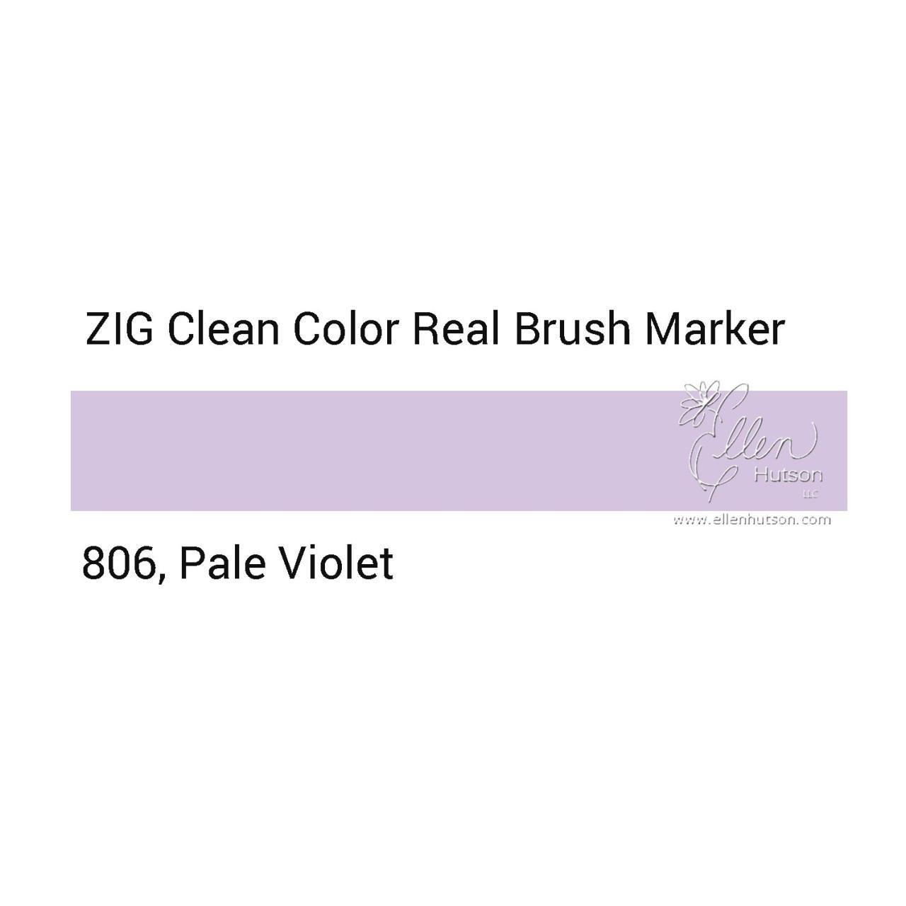 806 - Pale Violet, ZIG Clean Color Real Brush Marker - 847340037125