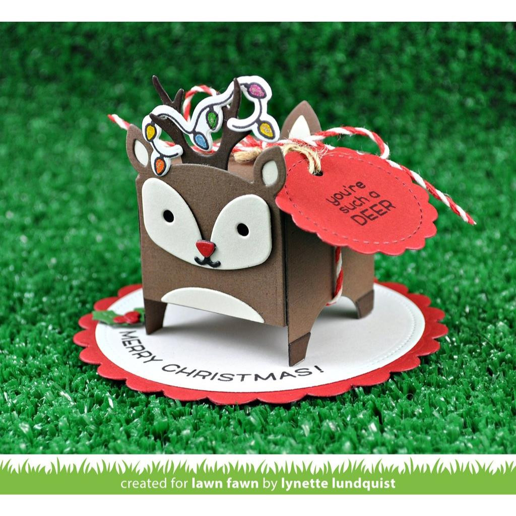 Tiny Gift Box Deer Add-On, Lawn Cuts Dies - 352926712254