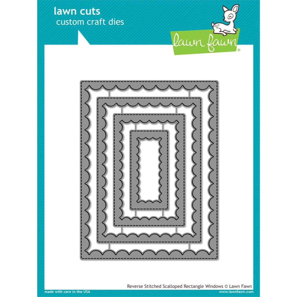 Reverse Stitched Scalloped Rectangle Windows, Lawn Cuts Dies - 352926713312