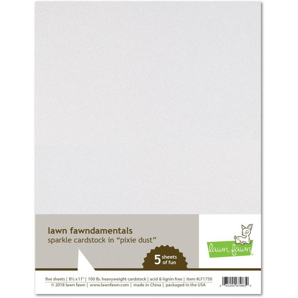 Sparkle Cardstock - Pixie Dust, Lawn Fawn Cardstock - 352926708394