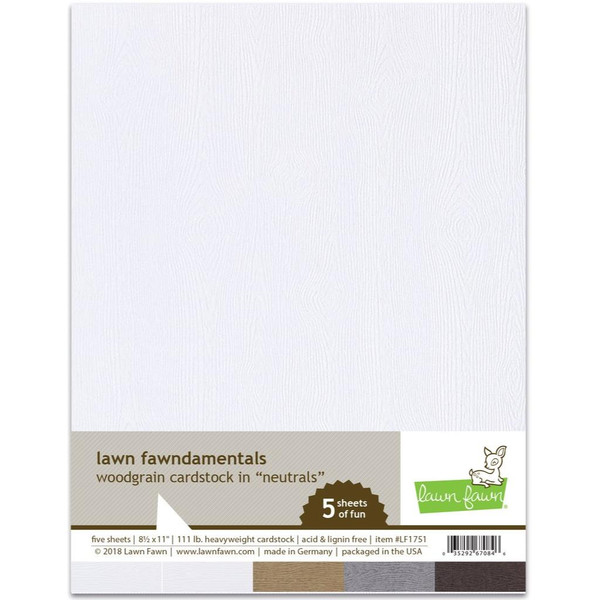 Woodgrain Cardstock - Neutrals, Lawn Fawn Cardstock - 352926708462