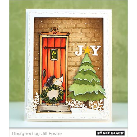 Penny Black Cling Stamps, Holly Jolly Critters - 759668406579