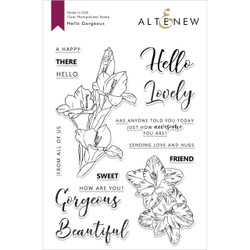 Hello Gorgeous, Altenew Clear Stamp Set - 655646170411