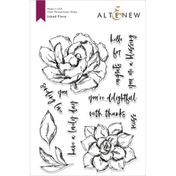 Inked Flora, Altenew Clear Stamp Set - 655646170435