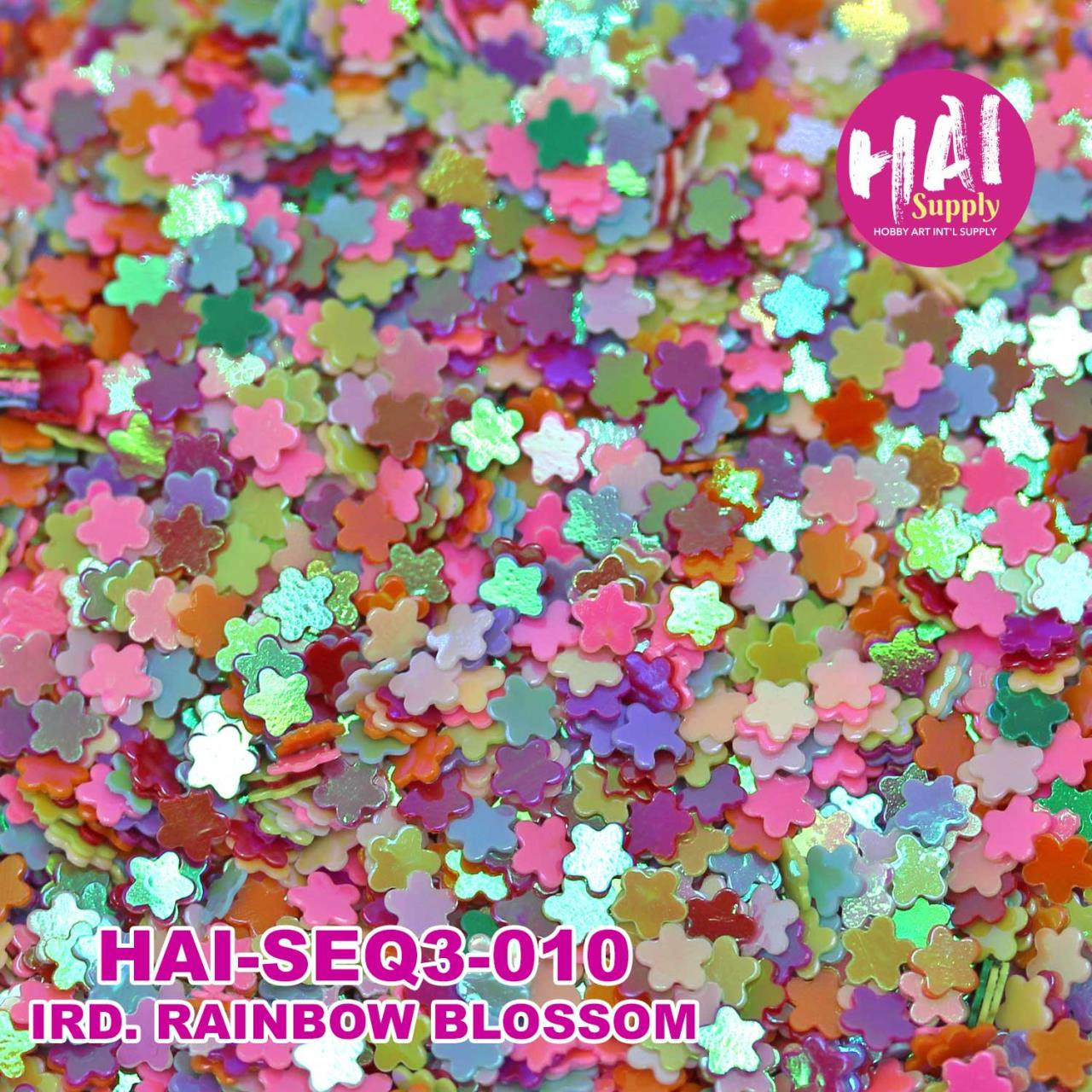 HAI Sequins, 3mm Iridescent Rainbow Blossoms -