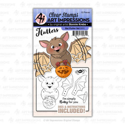 Bat Flutter, Art Impressions Clear Stamps - 750810794810