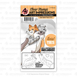 Cat Twist Ties, Art Impressions Clear Stamps - 750810794834