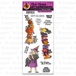 Halloween Magic, Art Impressions Clear Stamps - 750810794872