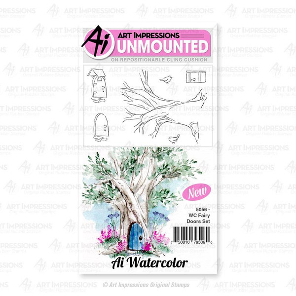 Watercolor Fairy Doors, Art Impressions Cling Stamps - 750810795060