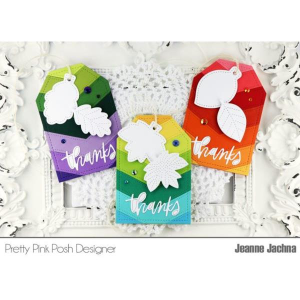 Fall Tags, Pretty Pink Posh Dies -