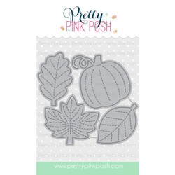 Small Stitched Foliage, Pretty Pink Posh Dies -