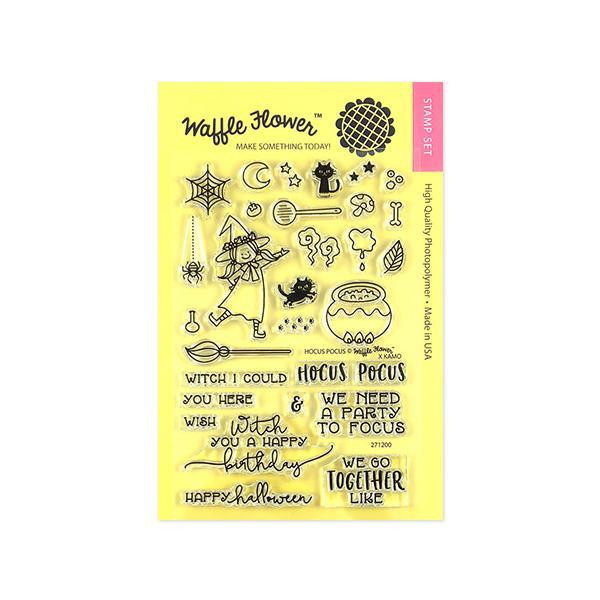 Hocus Pocus, Waffle Flower Clear Stamps - 653341238337