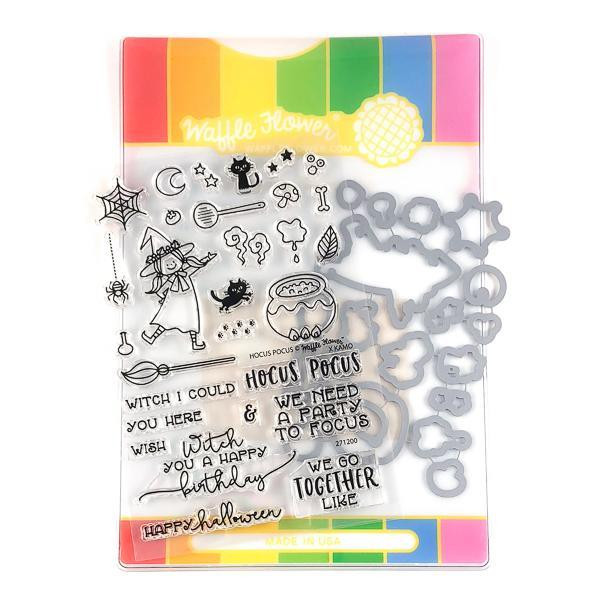 Hocus Pocus, Waffle Flower Stamp & Die Combo - 653341239532