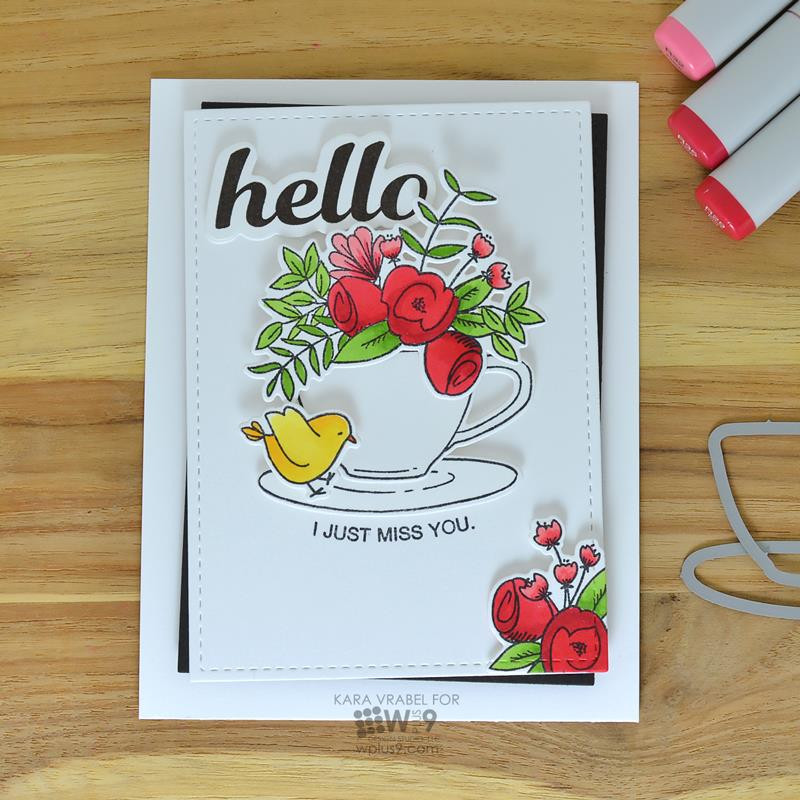 Hello & Thanks, WPlus9 Design Studio Clear Stamps -