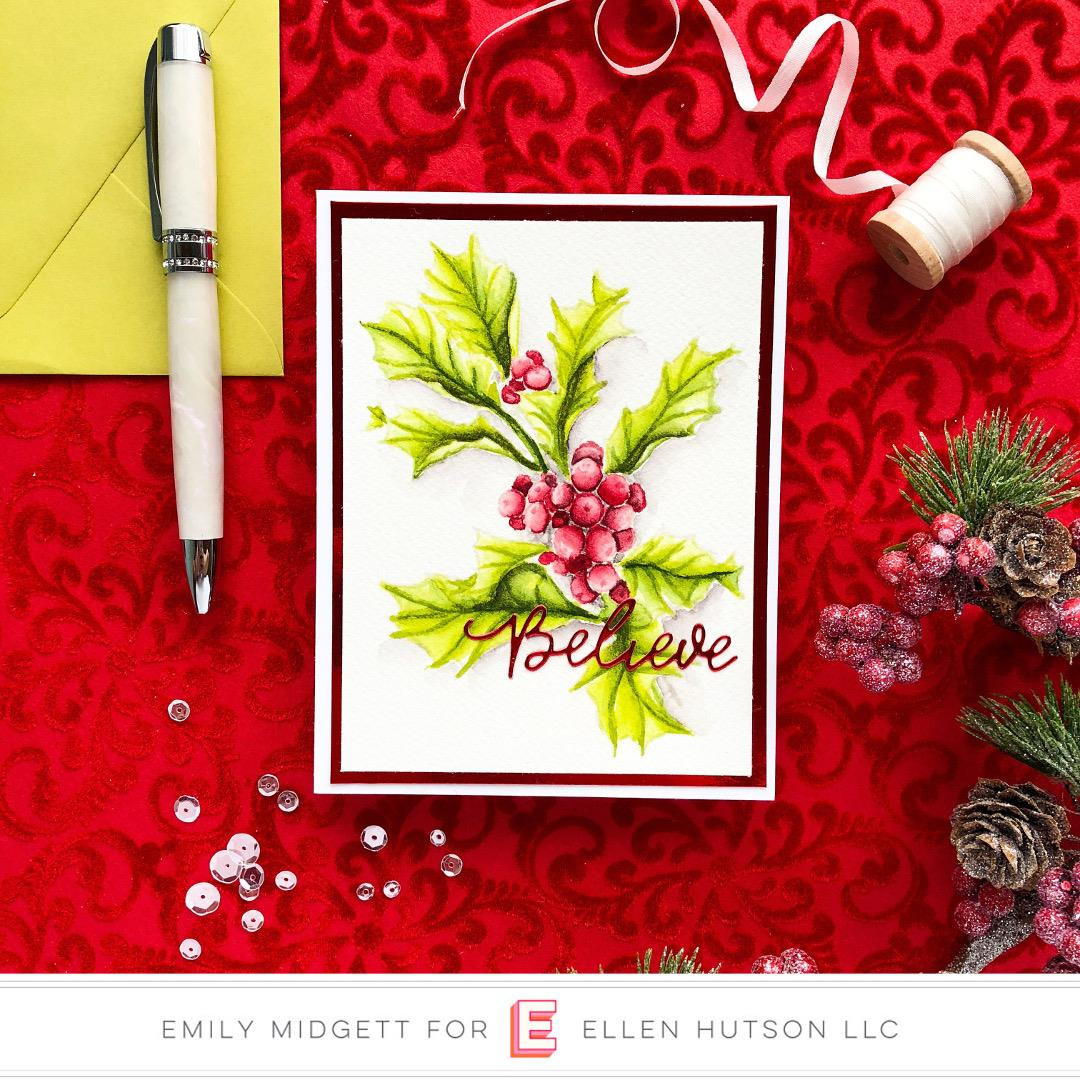 Mondo Holly by Julie Ebersole, Essentials By Ellen Clear Stamps -