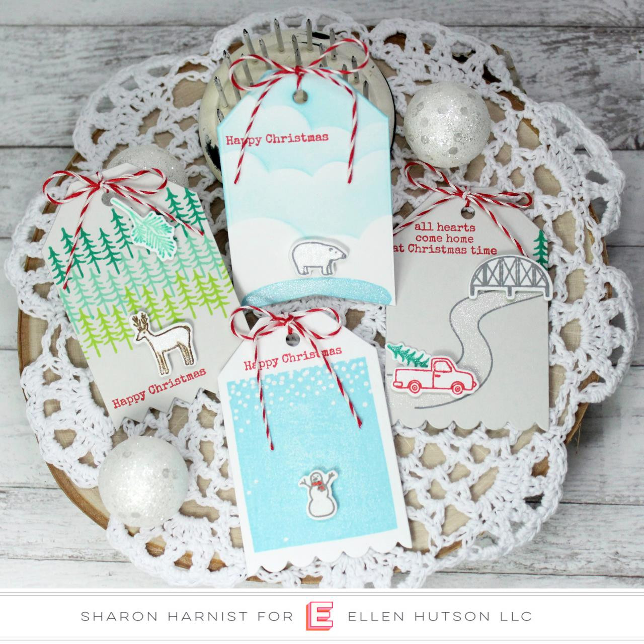 Over The River by Julie Ebersole, Essentials By Ellen Clear Stamps -