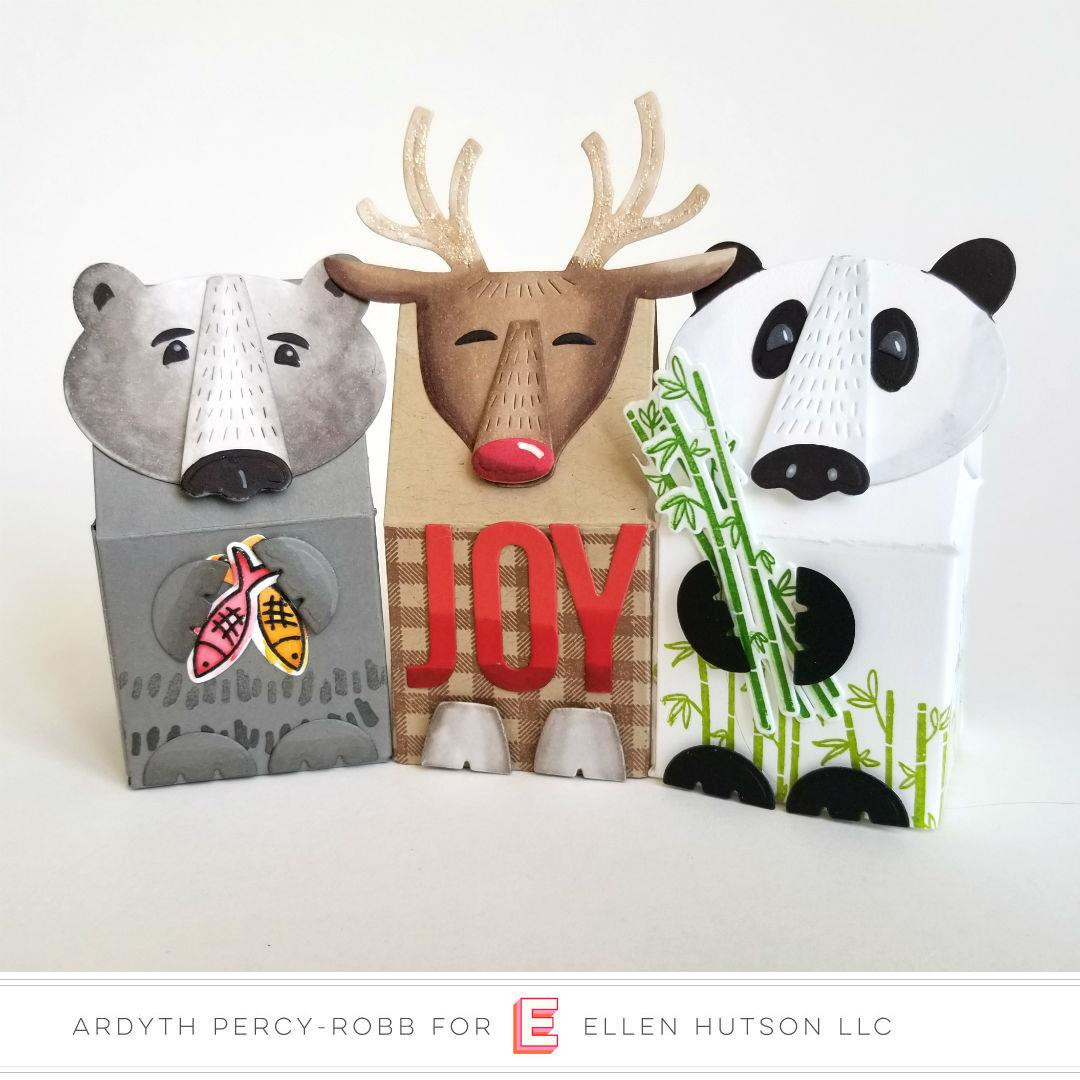 Animal Box Toppers by Julie Ebersole, Essentials By Ellen Designer Dies -