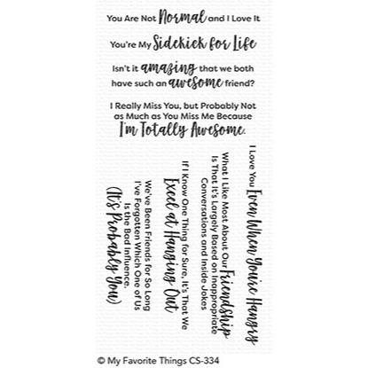 Sassy Pants Best Friends, My Favorite Things Clear Stamps - 849923027110
