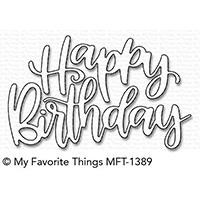 Happy Birthday Script, My Favorite Things Die-namics - 849923027370
