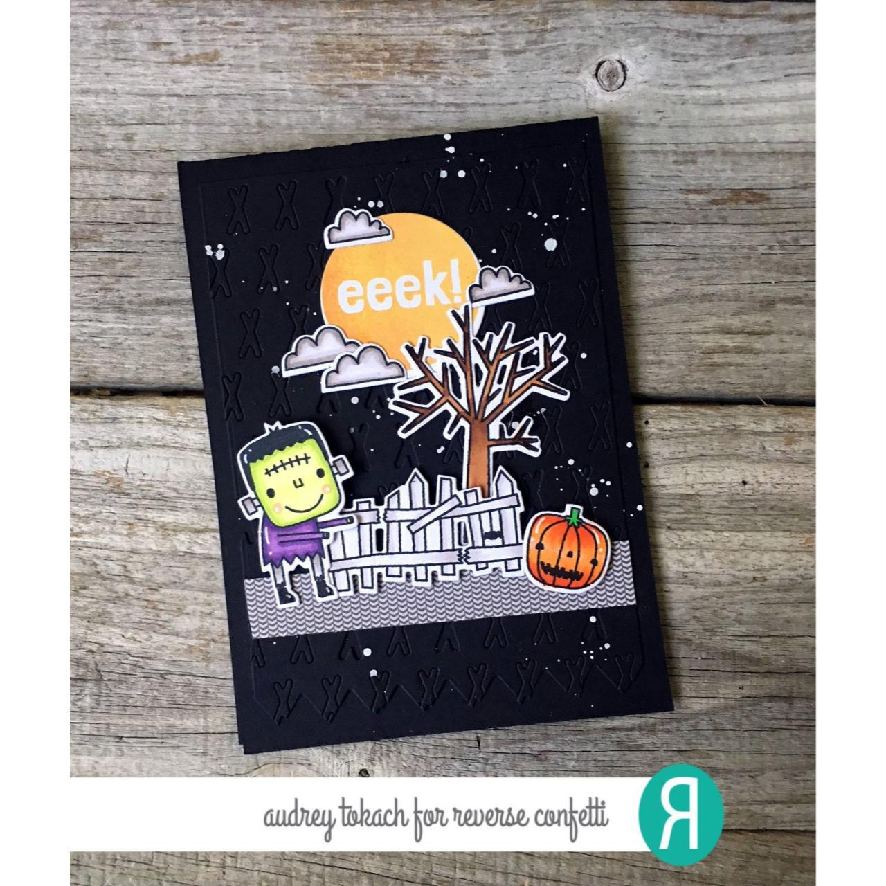 Frightening Friends, Reverse Confetti Clear Stamps -