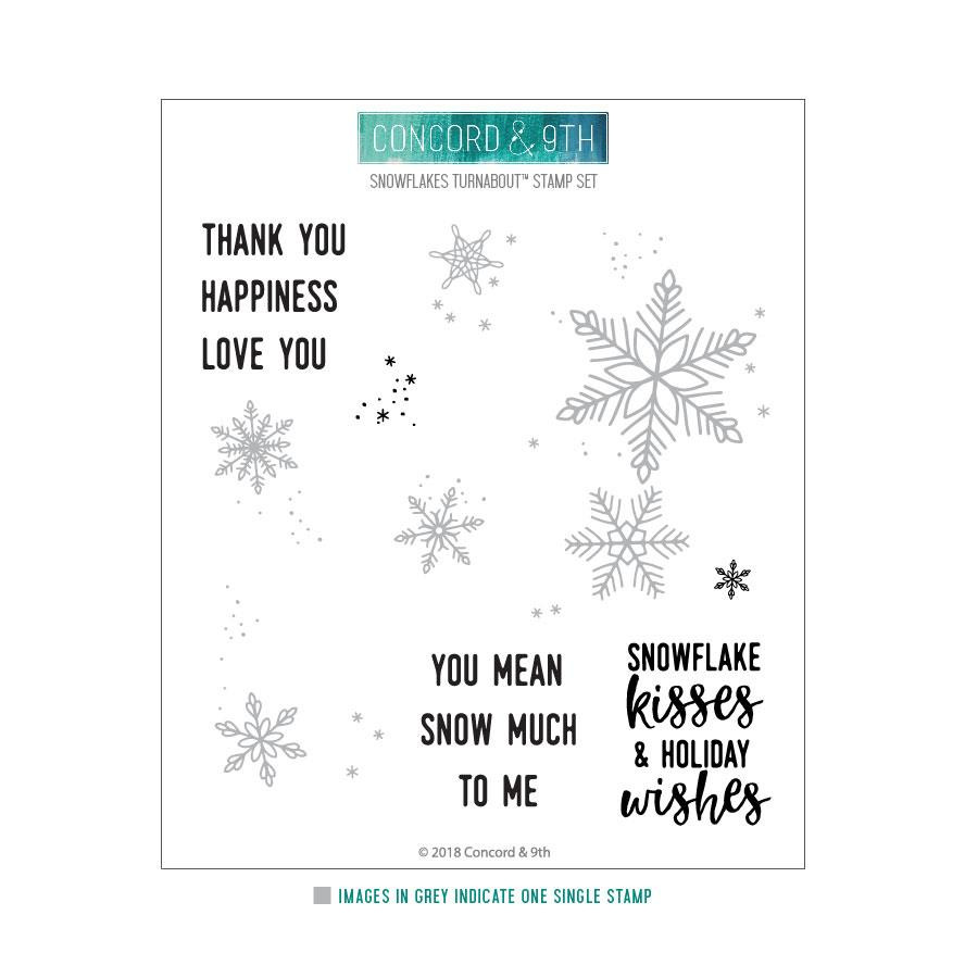 Snowflakes Turnabout, Concord & 9th Clear Stamps - 902223993582