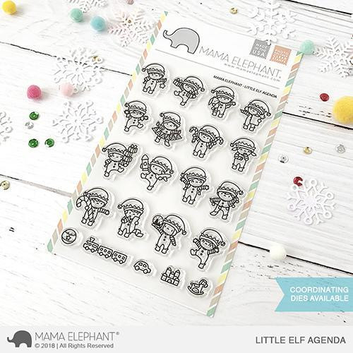 Little Elf Agenda, Mama Elephant Clear Stamps -