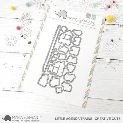 Little Agenda Trains, Mama Elephant Creative Cuts -