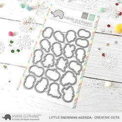 Little Snowman Agenda, Mama Elephant Creative Cuts -