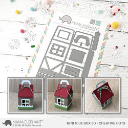 Mini Milk Box 3D, Mama Elephant Creative Cuts -