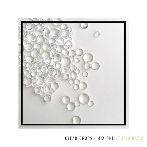 Clear Round Drops Mix One, Studio Katia Crystals -