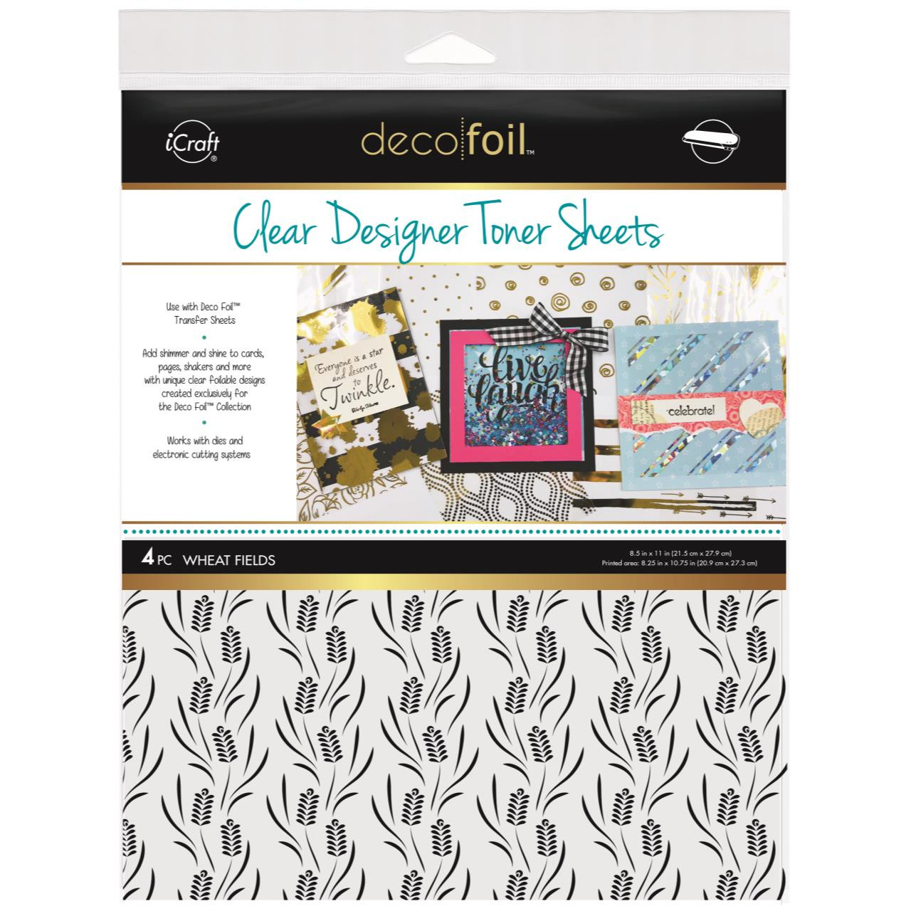 Icraft Deco Foil Clear Designer Toner Sheets, Wheat Fields - 000943055235