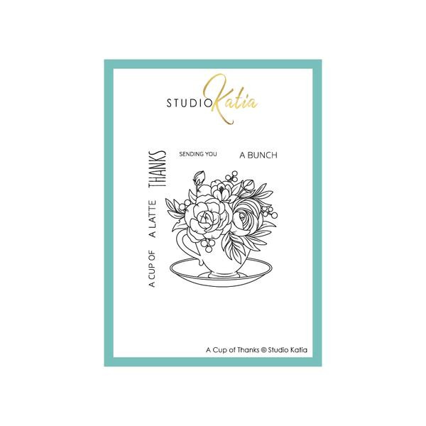 A Cup of Thanks, Studio Katia Clear Stamps -